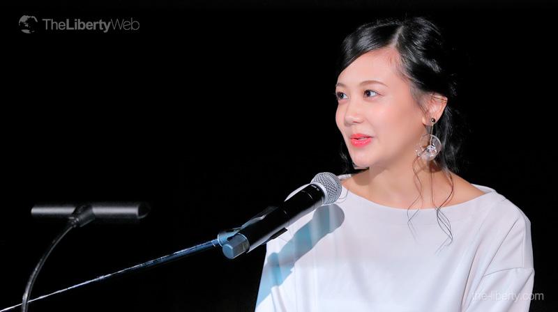 千眼美子「あなたも宇宙から来たと信じてください!」 映画「宇宙の法」公開イベント